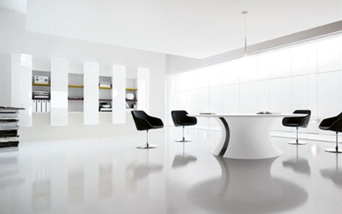 Tavoli tondi e ovali per sala riunioni tavoli riunioni in for Sala riunioni