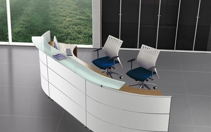 Reception Ufficio Legno : Desk reception d immagine mobili per reception curvi o lineari