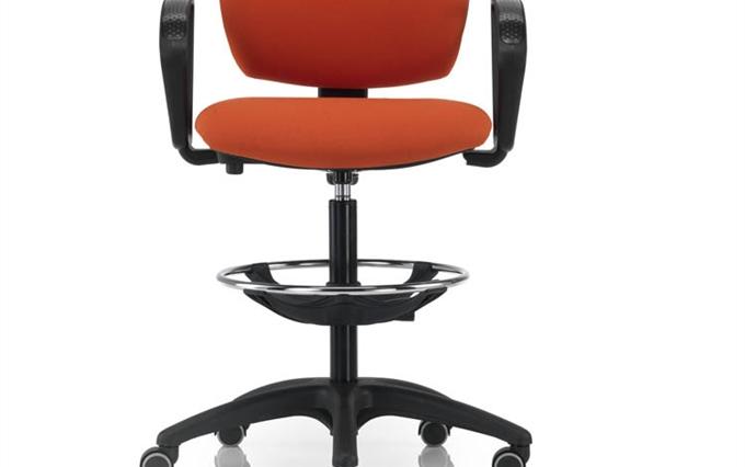 Sgabello professionale ergonomico per ufficio per reception a